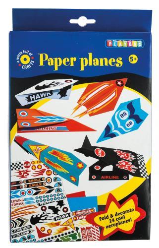 Bastelset Papierflieger, 24 Stück