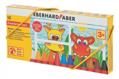 Lápices de cera EBERHARD FABER para ventanas, 12ud