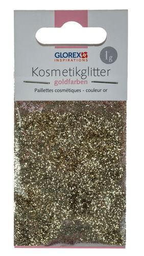 Glitter cosmetici, color oro, 1 g