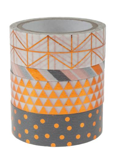 Washi tapes - Hotfoil color cobre, 4 ud.