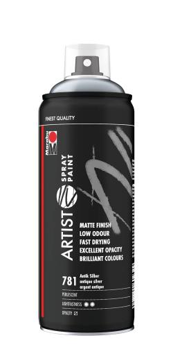 Marabu Artist Spray Paint, 400 ml antik silber