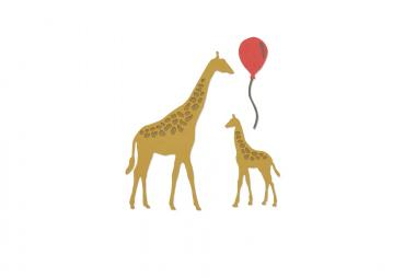 Sizzix Thinlits Die Schablone - Giraffes