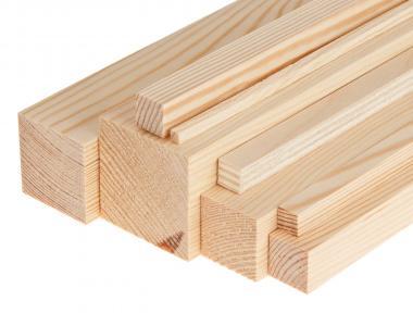 Listón de pino (25 x 25 mm) Medidas especiales