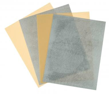 Schrumpffolie, 4 Stück gold + silber (26x20 cm)