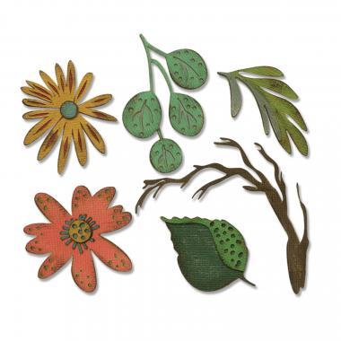 Sizzix Thinlits Die - 6 St. Funky Floral Large