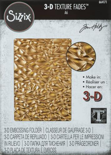 Sizzix 3D Textured Imp. Emb. Folder - Crackle