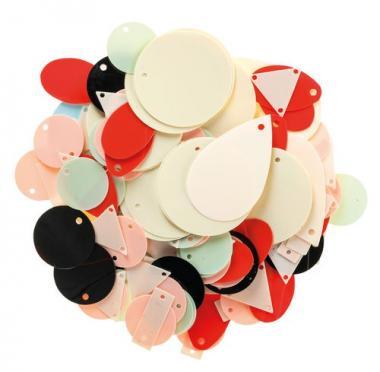 Rico Design® Pendientes de lentejuelas - pastel