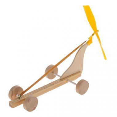Holzauto mit Propeller, 6 Stück