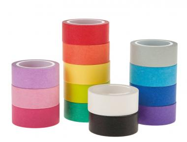 Washi-Tape, 14er-Set bunt sortiert