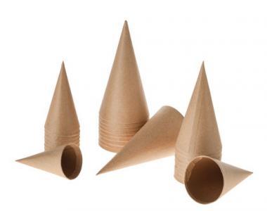 Lote de conos de cartón Paper Art (80/100/120 mm)