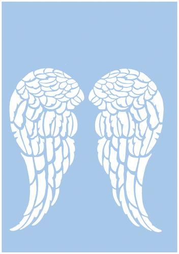schablone engelsflügel din a4  schablonen von opitec