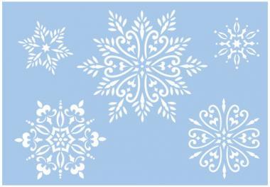 Mascherina - fiocchi di neve
