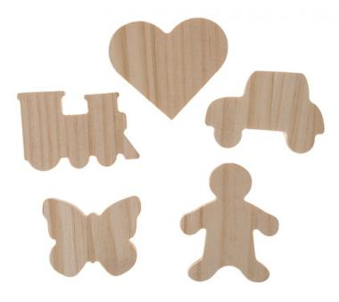 Holz-Figuren, ca.50-60mm, 25er-Set