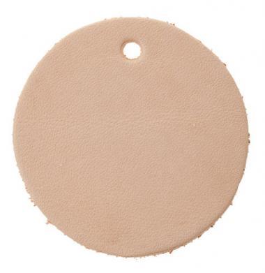 Porte-clés en cuir cercle, env. 52mm