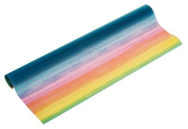 Carta trasparente, strisce arcobaleno