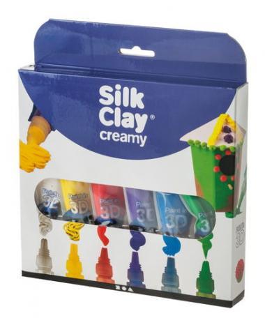 Silk Clay Creamy Modelliercreme, bunt (6 x 35ml)