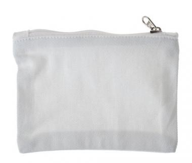 Baumwoll-Geldbörse, weiß  (12,5 x 9 cm)