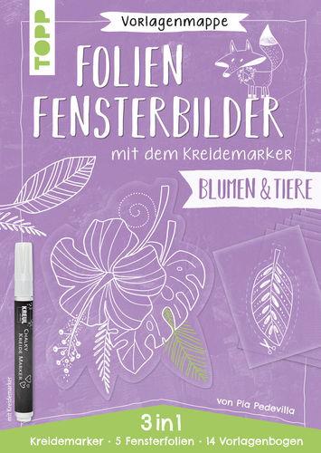 Vorlagenmappe Folien-Fensterbilder Blumen & Tiere