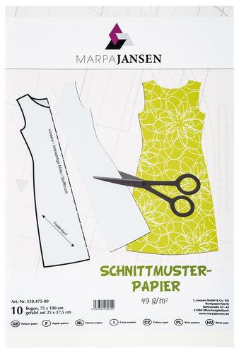 Schnittmusterpapier, 10 Bogen (75 x 100 cm)