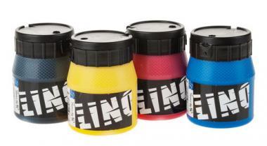 Linoldruckfarben  (4x 250 ml)
