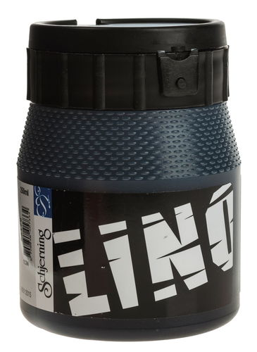 Linoldruckfarbe, 250 ml schwarz