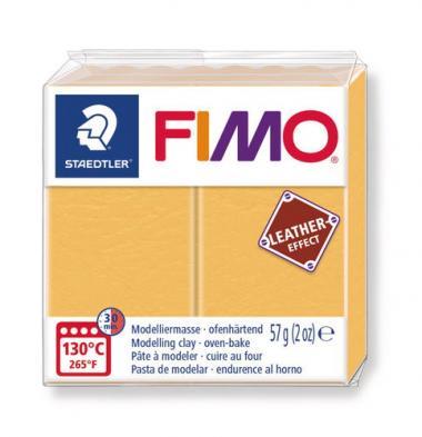 FIMO® efecto cuero, azafrán, 57 g, 1 ud.