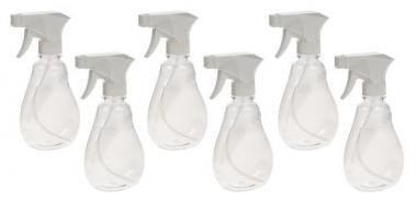 Kunststoff-Sprühflaschen, 6 Stück