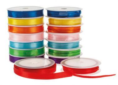 Conjunto de cintas de satén (7,5 m) 16 ud.