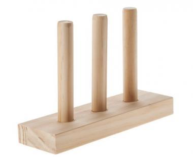 Holzständer für Tapes  (22 x 7 x 15 cm)