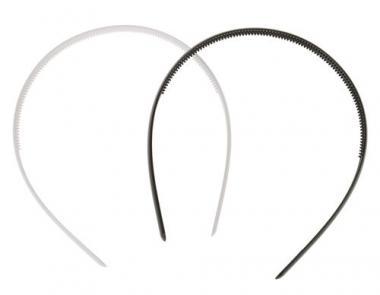 Serre-tête, noir/blanc, set de 2 pièces