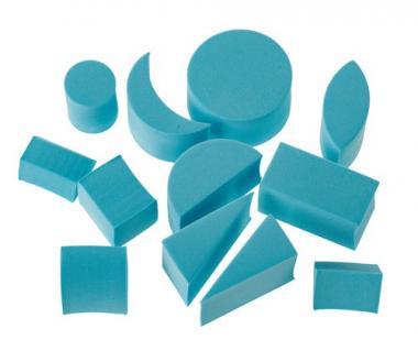Moosgummi-Stempel, 12er-Set Formen