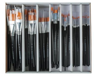 Set di pennelli Gold line - 84 pennelli piatti