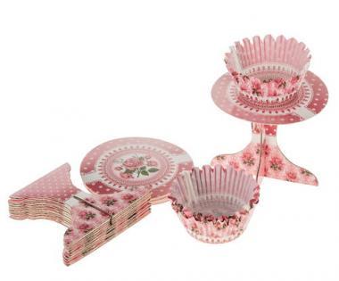 Kit cupcakes déco, roseraie