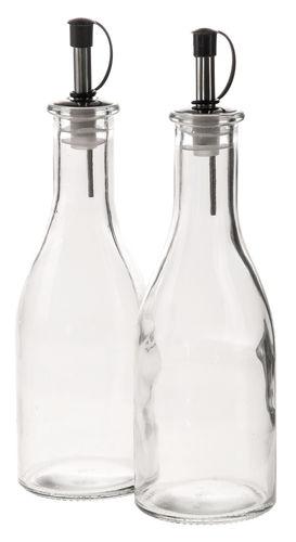 Bottiglie per olio e aceto di vetro, 2 pezzi