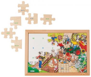 Puzzle XL, matemáticas, restas hasta 20, 24 ud.