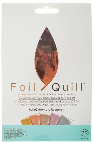 Foil Quill Folienblätter 30er-Set gold,silber,rose