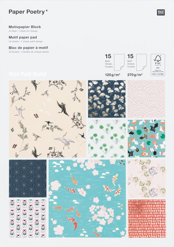 Rico Design® Paper Poetry Blocco con motivi