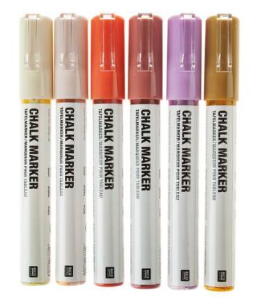 Rico Design® Chalk Marker, naturali, set da 6