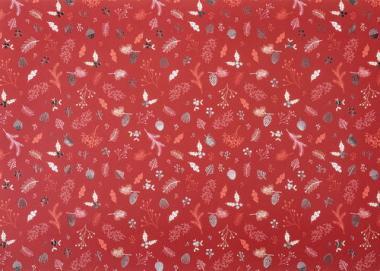 Carton photo à motif branches, rouge/argenté