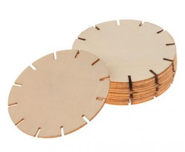DIY Holzhänger Wickelplatte, 12 Stück (7 cm)