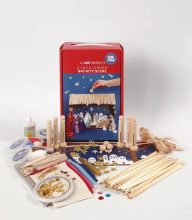 Kit de bricolage crèche, 78 éléments