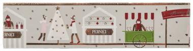 Bordures en plaques de cire Marché de Noël