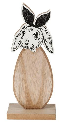 Conejito de Pascua de madera (10 x 6 x 24,5 cm)
