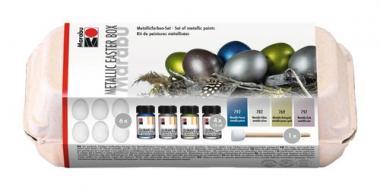 Kit para pintar huevos de Pascua - Metalizados