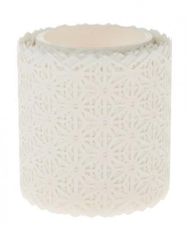 Washi-Tape, 5 m Blüten weiß (50 mm)