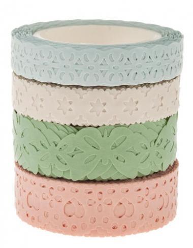 Washi-Tape, 4er-Set pastell
