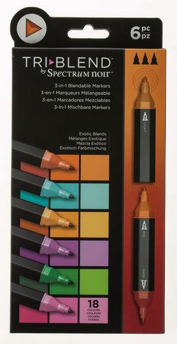 TriBlend Marker, 6er-Set Exotik Farbmischung