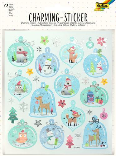 Charming Sticker Modern Christmas, 73 Stück