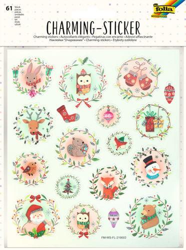 Charming Sticker Classic Christmas, 61 Stück