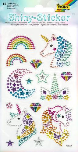 Shiny Sticker Einhörner, 15 Sticker